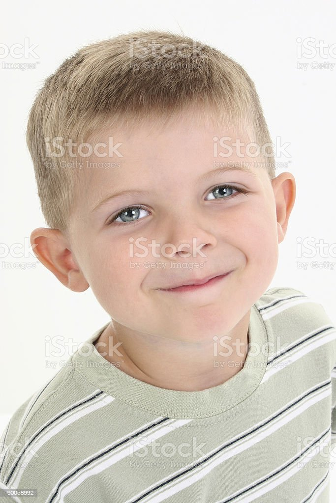 Close Up Happy Four Year Old Boy royalty-free stock photo
