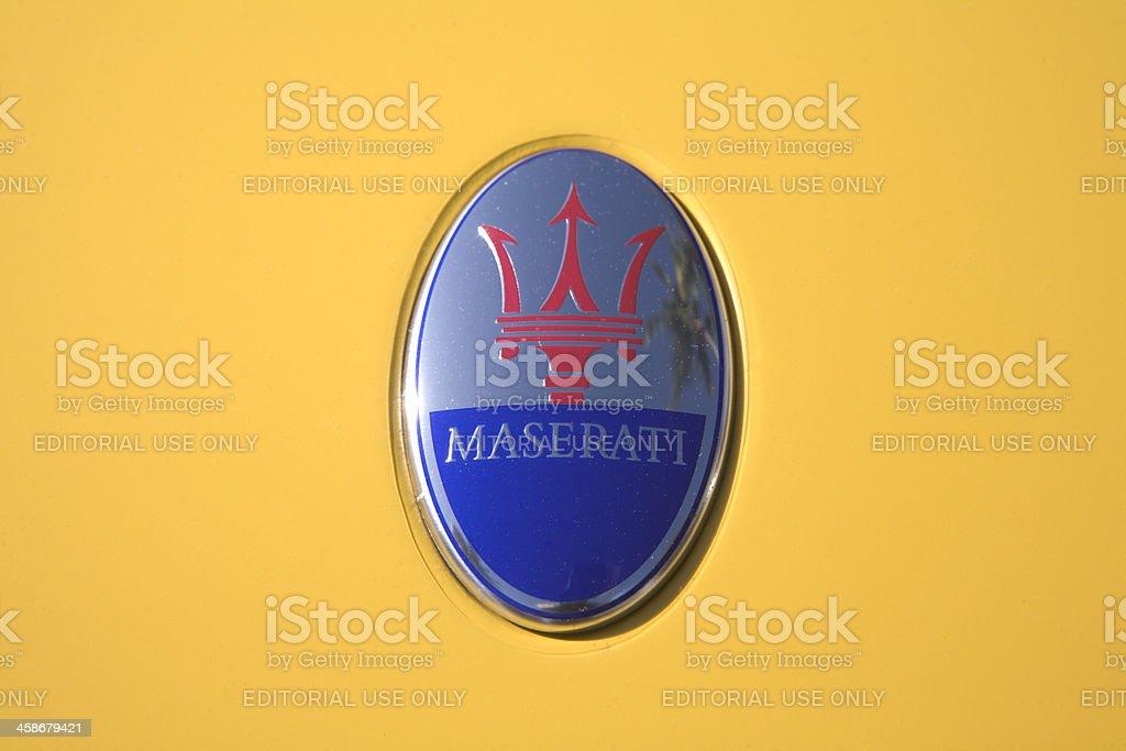 Close Up Hood Ornament Maserati Automobile stock photo