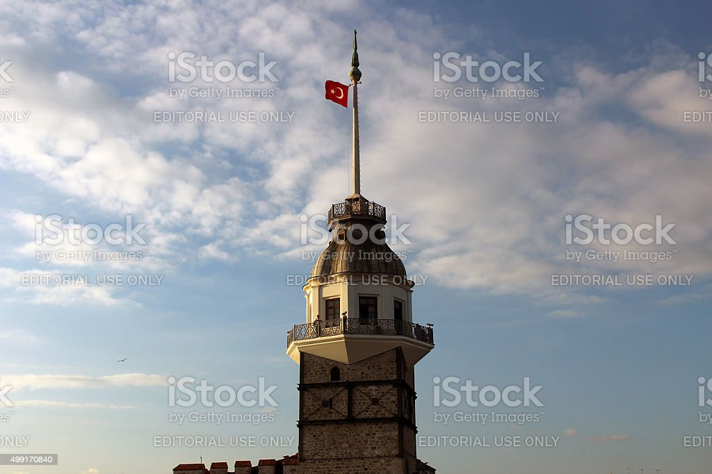 Close up image Maiden's Tower in Istanbul, Turkey stock photo