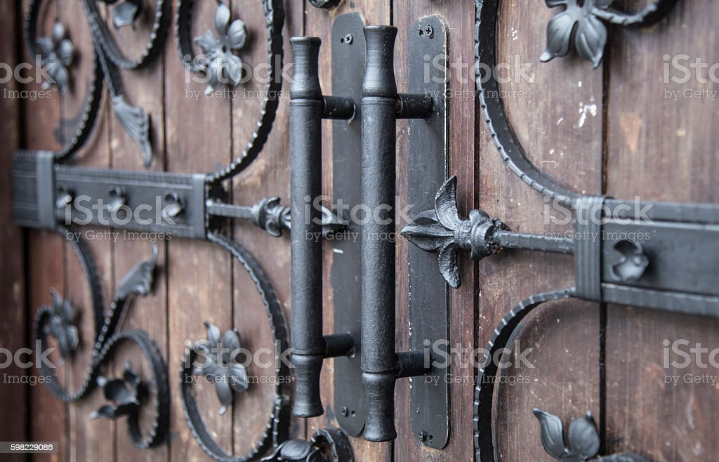 Close up image of a decorative iron details stock photo
