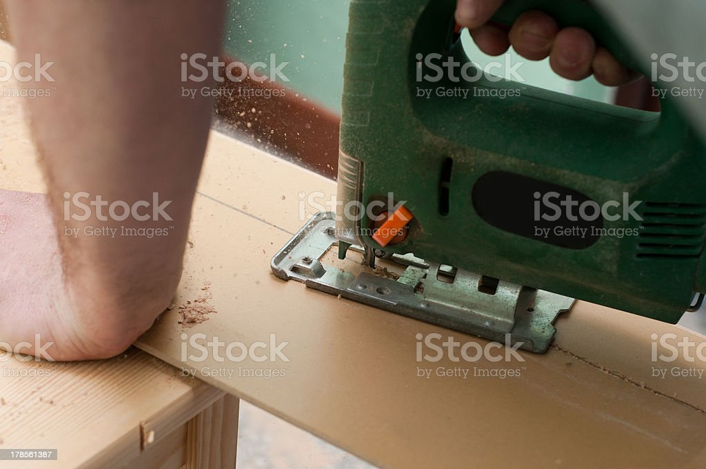 Close up image of an electric jigsaw royalty-free stock photo