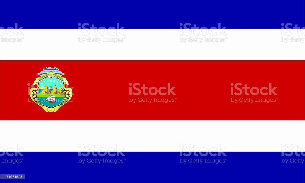 Close up image of Costa Rican flag stock photo