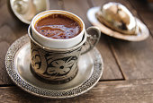 Close up image of delicious coffee from Turkey