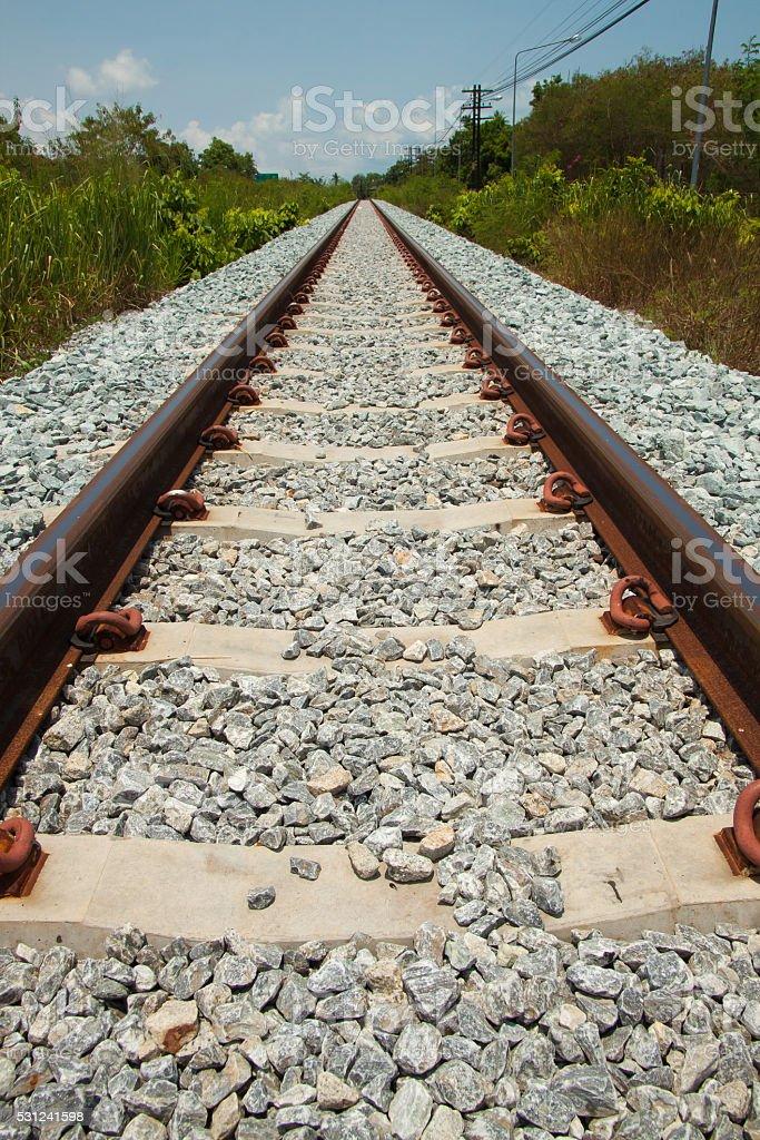 Close up iron railway background royalty-free stock photo