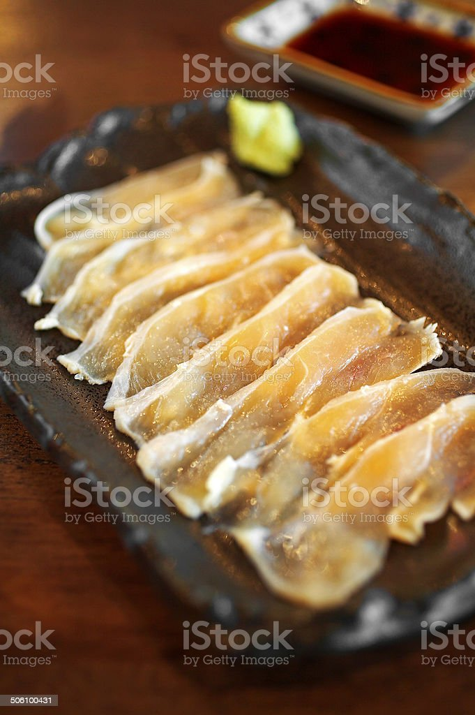 close up japanese food from raw salmon royalty-free stock photo