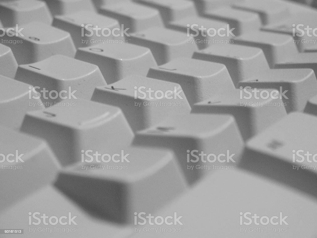Close Up Keyboard Keys royalty-free stock photo