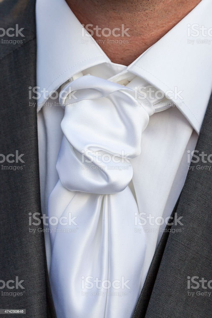 Close up knot necktie stock photo