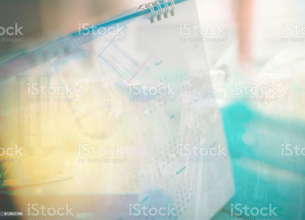 Close up Laboratory equipment. stock photo