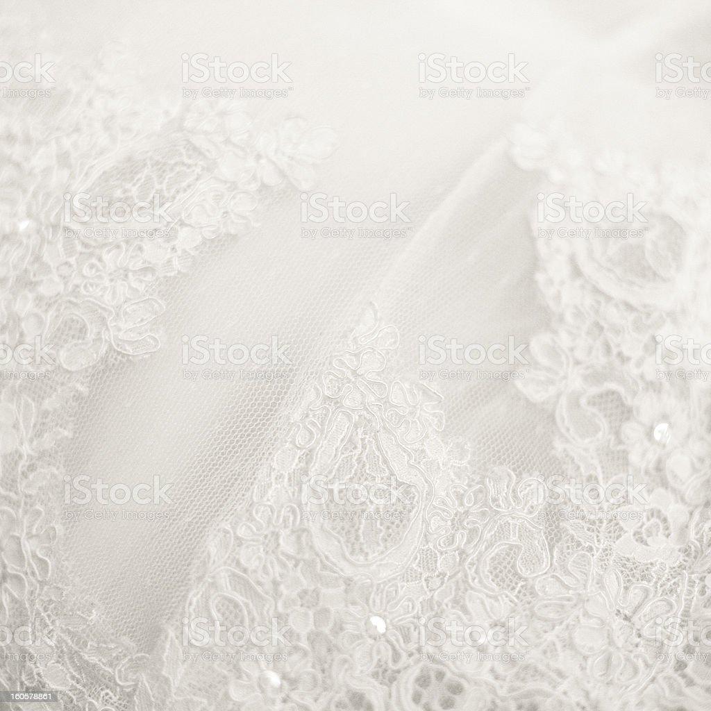 Close up lace detail, wedding dress pattern royalty-free stock photo