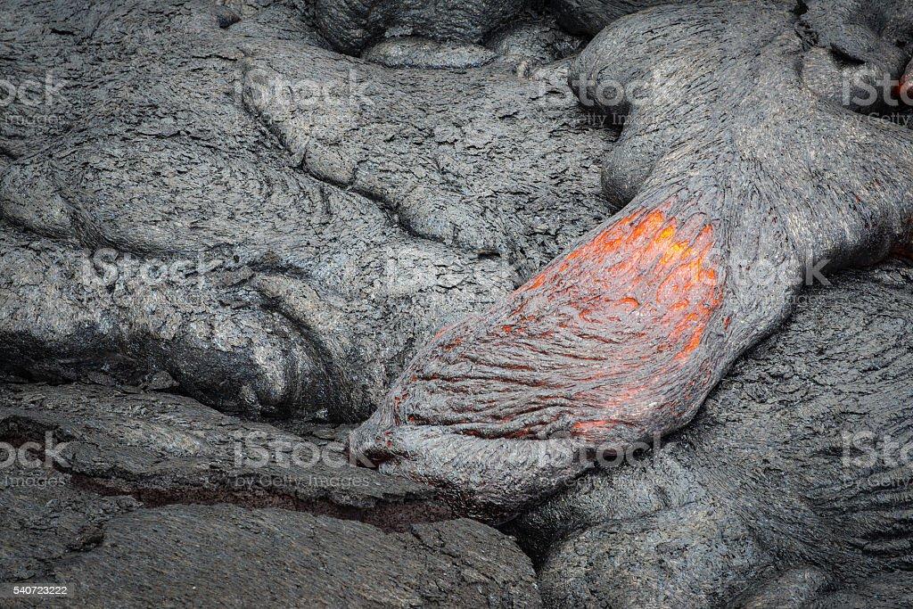 Close up lava flow stock photo