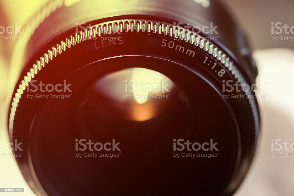 close up lens camera stock photo