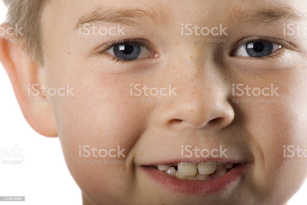 Close Up Little Boy's Face stock photo