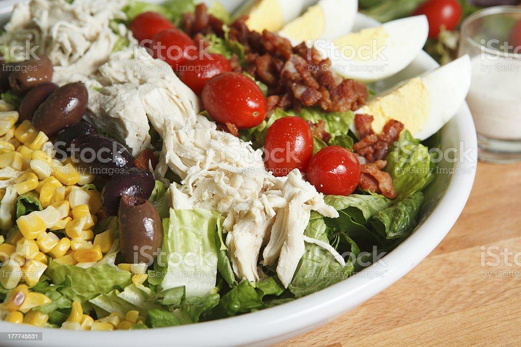 Close up look at hearty cobb salad royalty-free stock photo