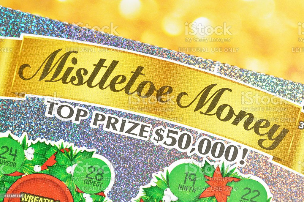 Close up lottery ticket stock photo
