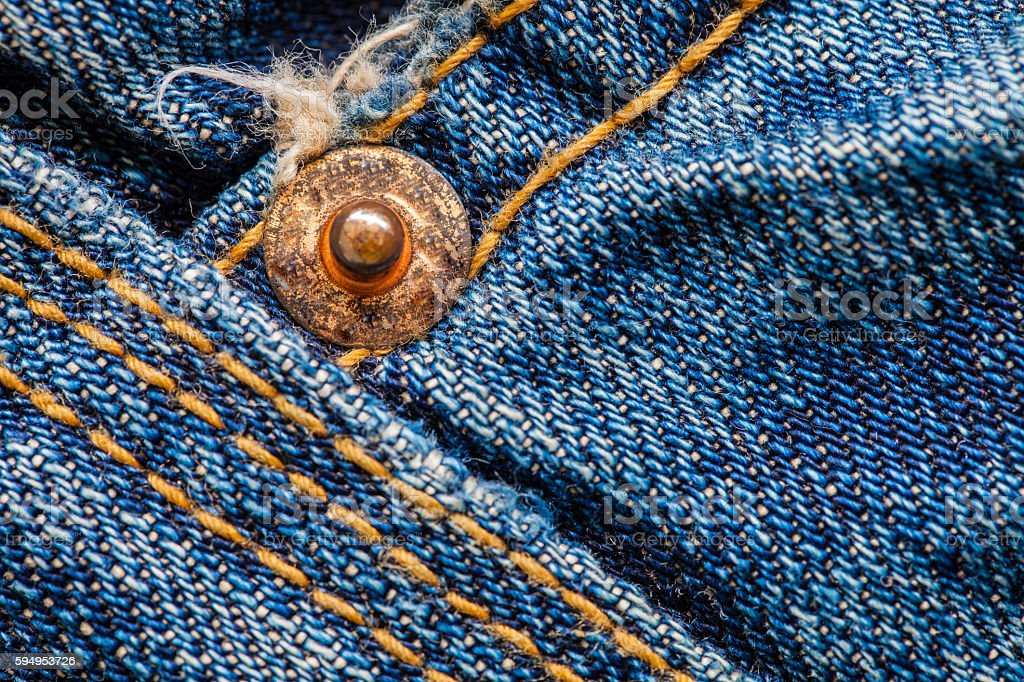 Close up macro jeans cotton texture background stock photo