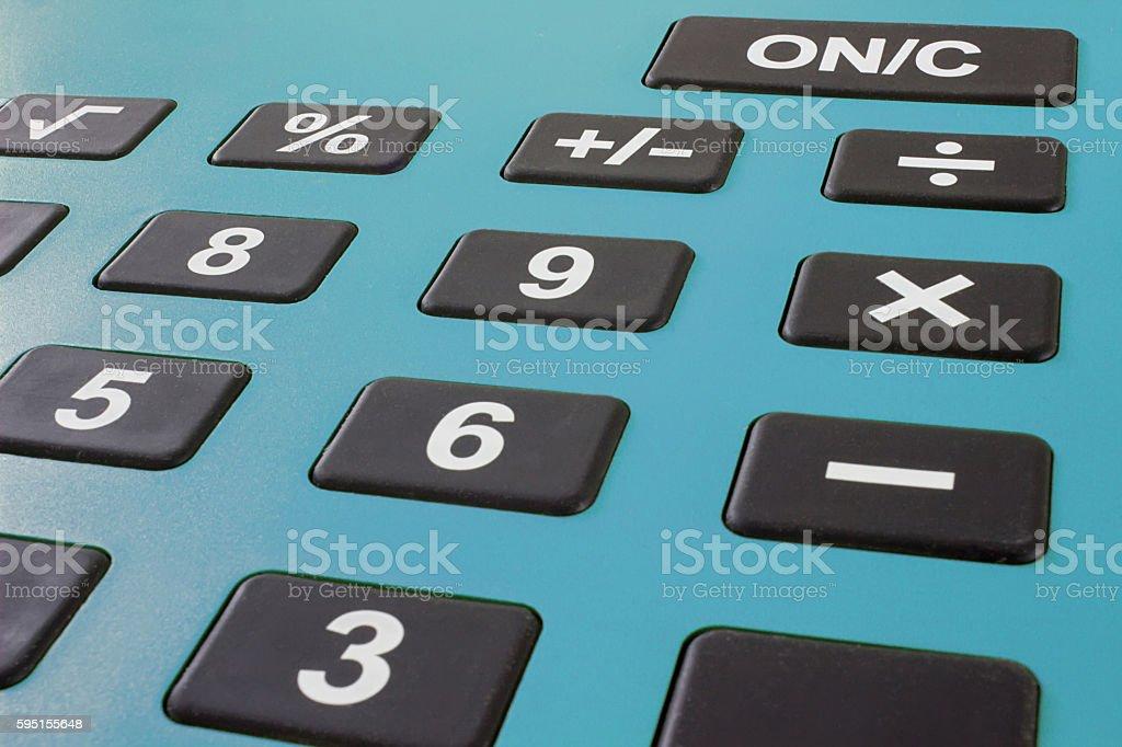 Close up macro shot of calculator. Savings calculator, finance calculator stock photo
