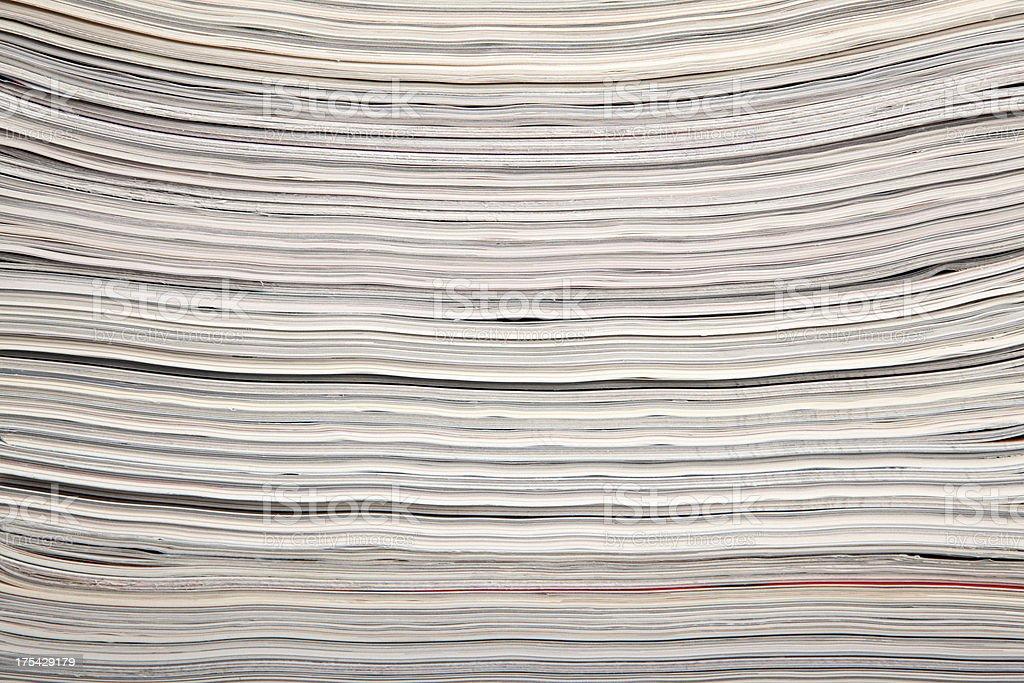 close up magazines royalty-free stock photo