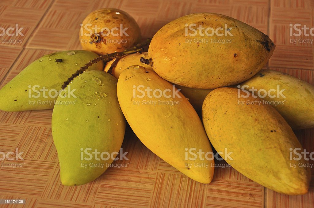 close up mango at open Thailand market royalty-free stock photo