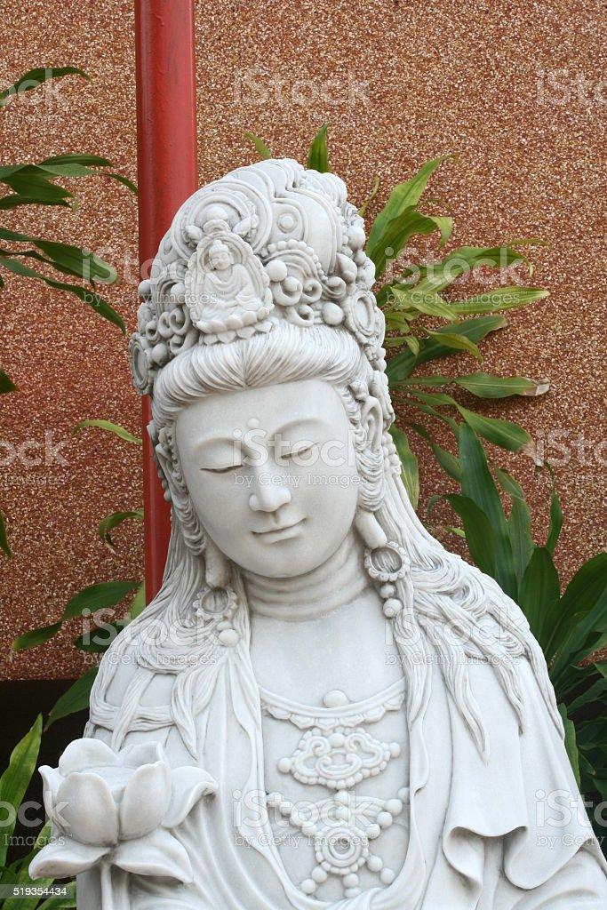 Close up Marble Quan Yin stock photo