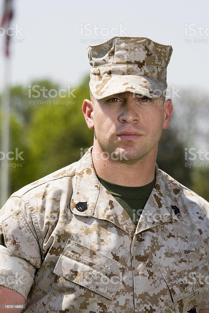 Close Up Marine royalty-free stock photo