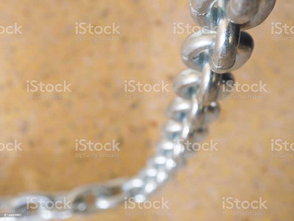 close up metal chain . stock photo