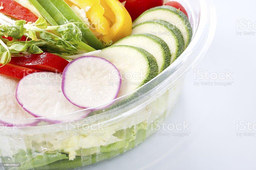 Close up mixed salad stock photo