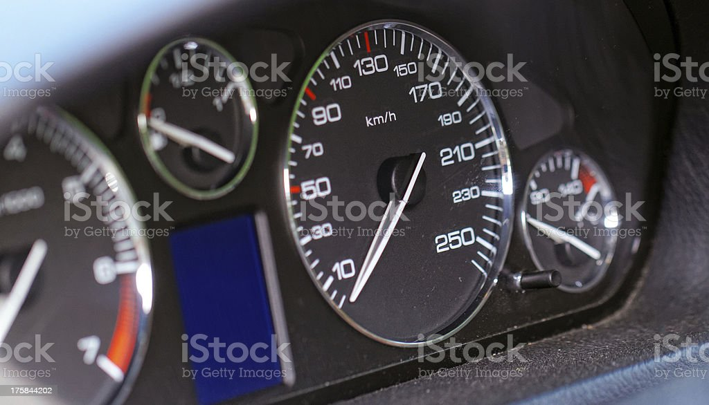 Close up modern car dashboard royalty-free stock photo