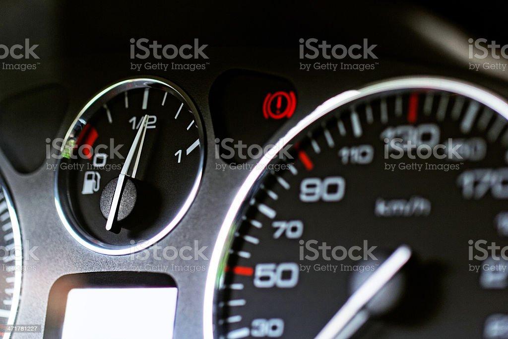 Close up modern car dashboard royalty-free stock photo