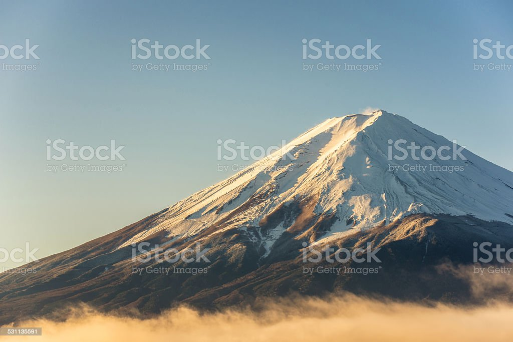 close up mT Fuji stock photo