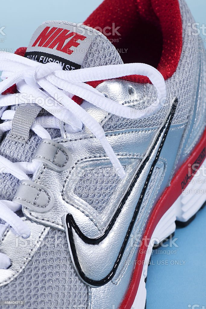 Close up Nike Running Shoe stock photo
