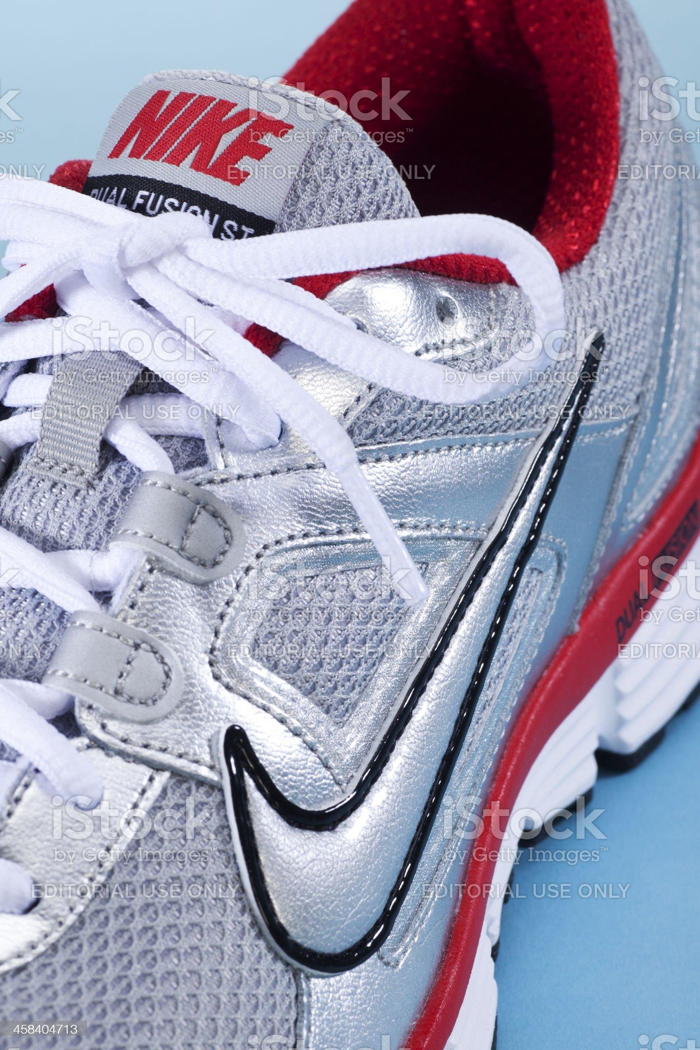 Close up Nike Running Shoe royalty-free stock photo