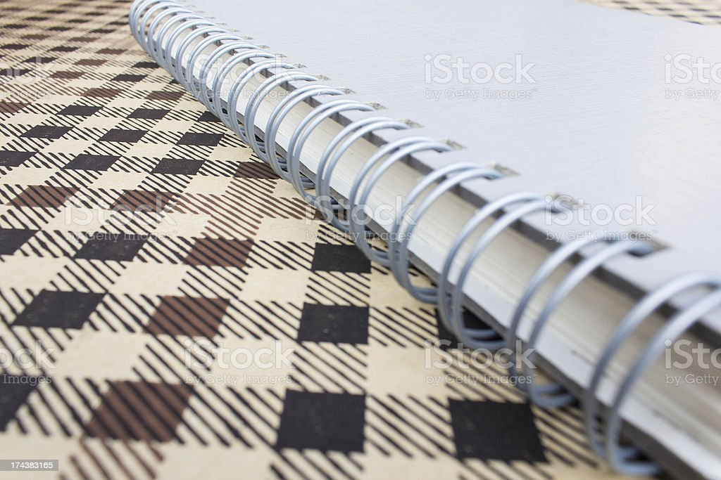Close up notebook with background stock photo