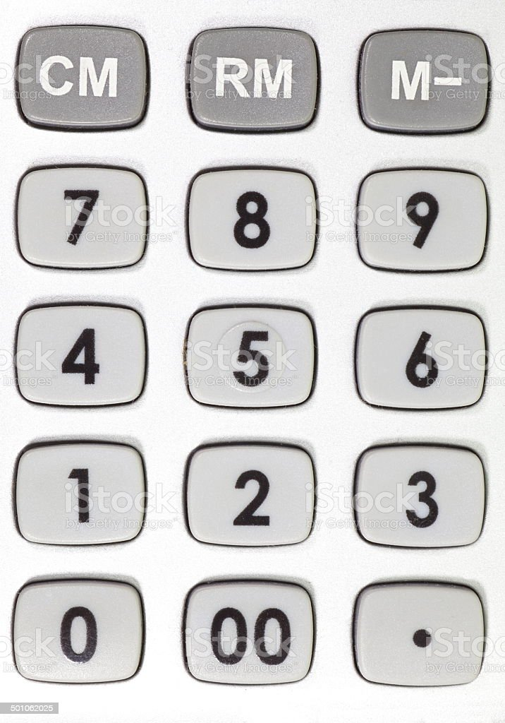 close - up object detail of  plastic calculator stock photo