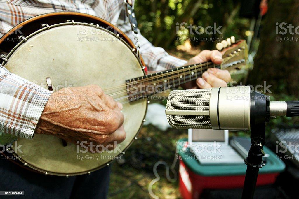 Close Up of a Banjo stock photo