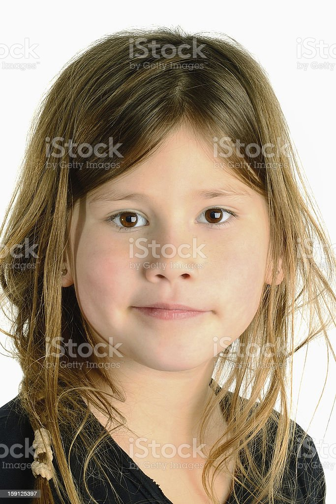 close up of a beautiful blond child royalty-free stock photo