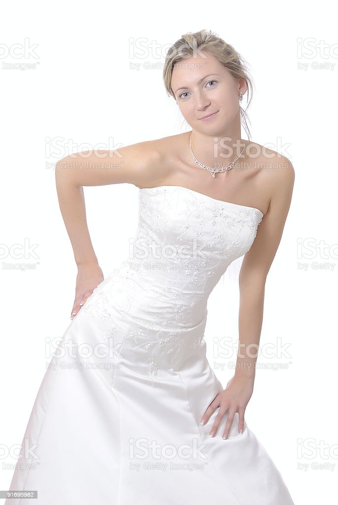 Close up of a beautiful bride. royalty-free stock photo