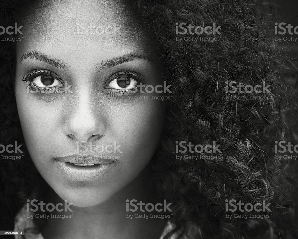 Close up of a beautiful young woman stock photo