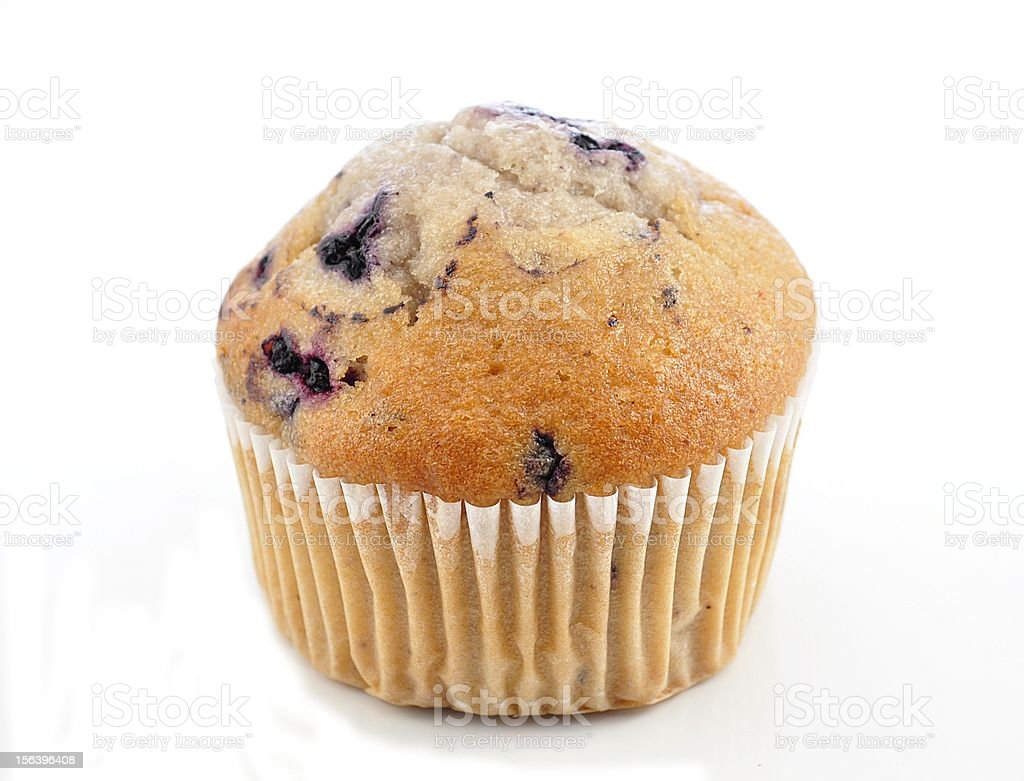 Close up of a blueberry muffin royalty-free stock photo