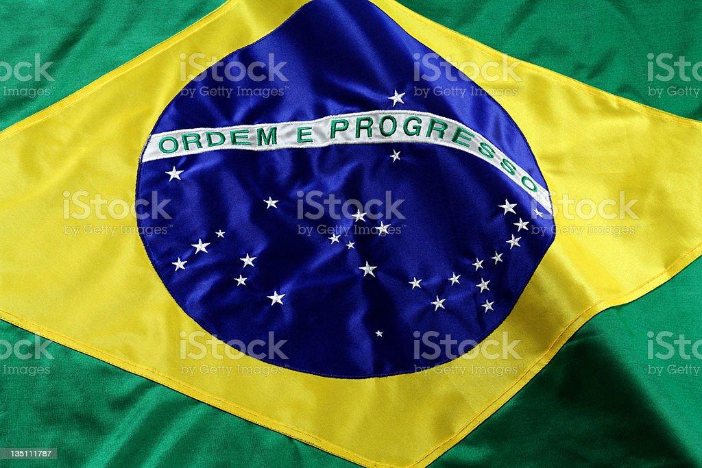 A close up of a Brazilian flag stock photo