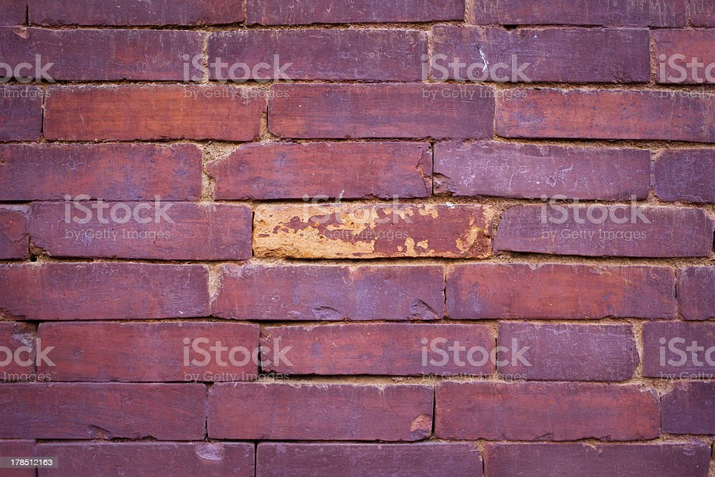 close up of a brick wall royalty-free stock photo