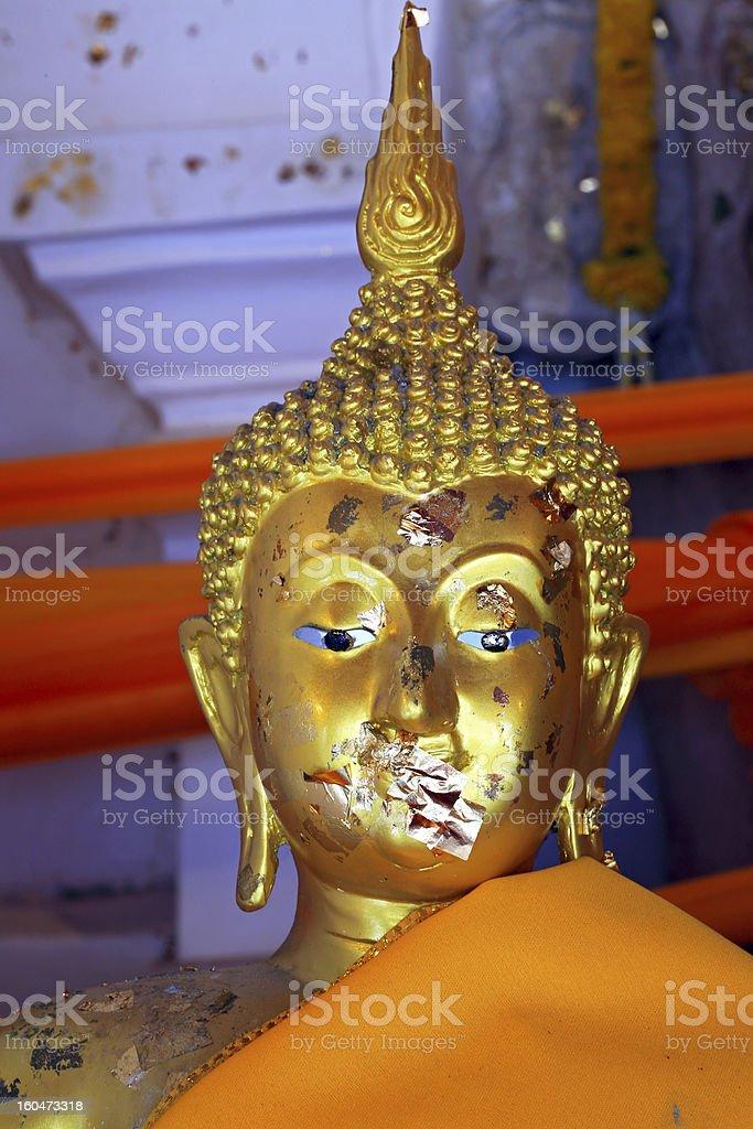 Close up of a buddha statue royalty-free stock photo