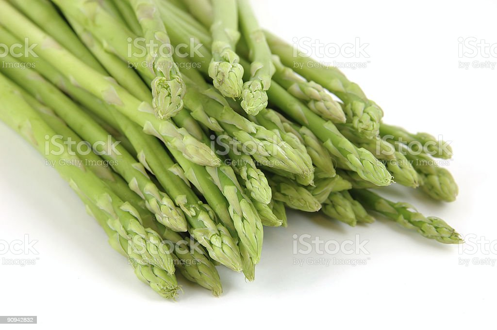 Close up of a bunch asparagus royalty-free stock photo