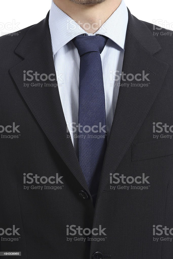 Close up of a businessman suit and necktie stock photo