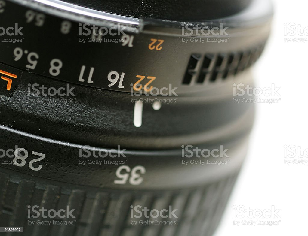 Close up of a camera lens royalty-free stock photo