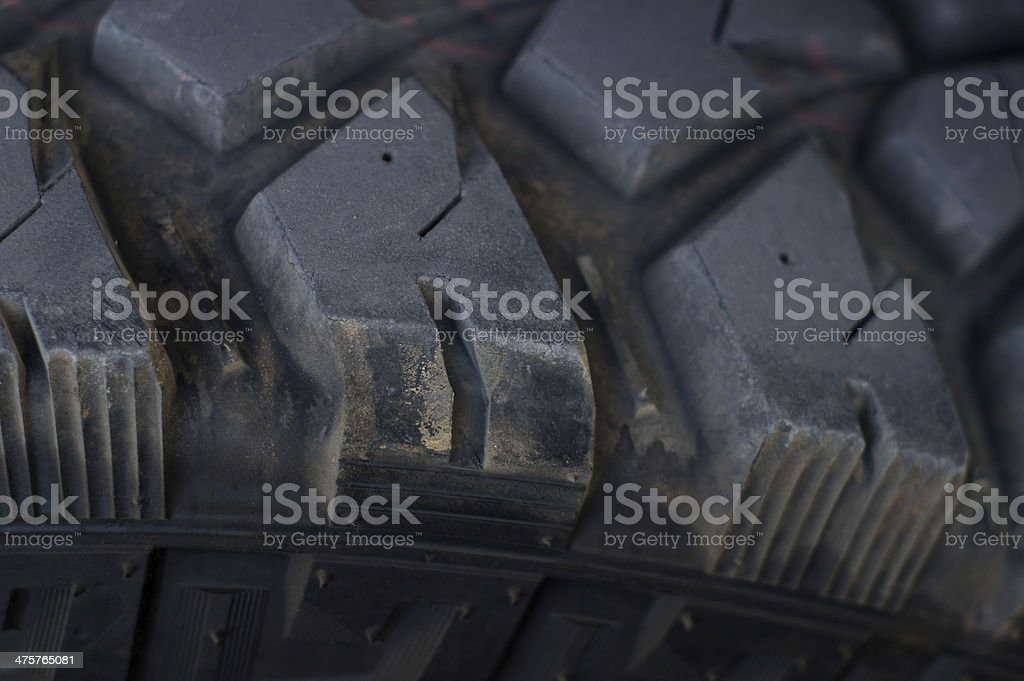 Close up of a car tire stock photo