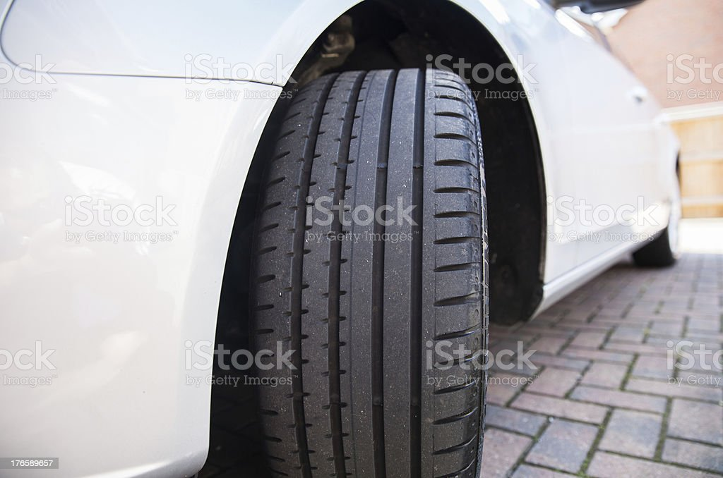 Close up of a car tyre royalty-free stock photo