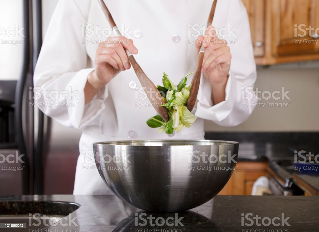 Close Up of a Chef's Hands stock photo