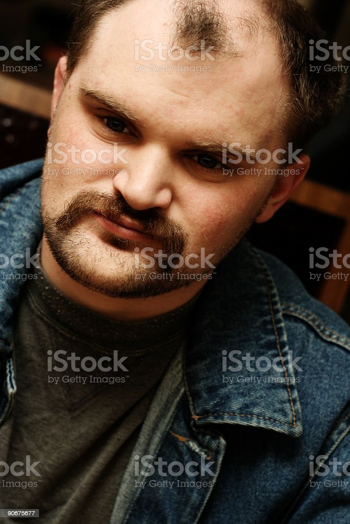Close Up of a College Student royalty-free stock photo