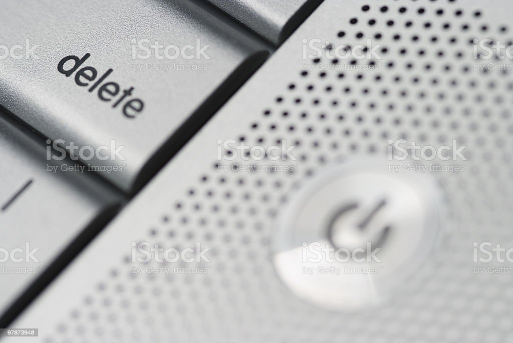 close up of a delete button from APPLE keyboard royalty-free stock photo