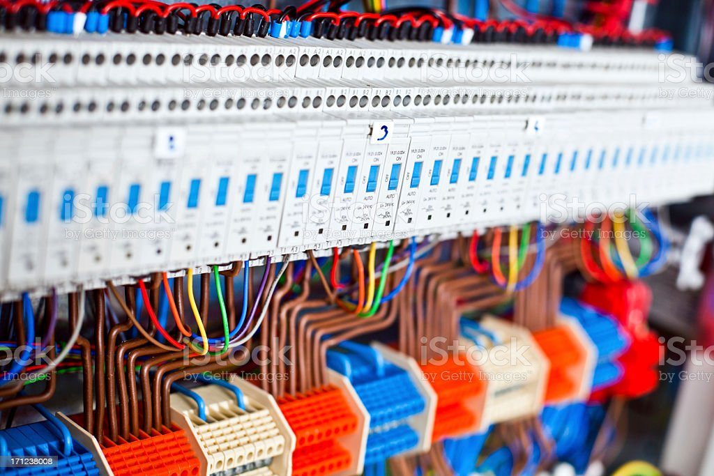 Close Up Of a Electrical Panel royalty-free stock photo
